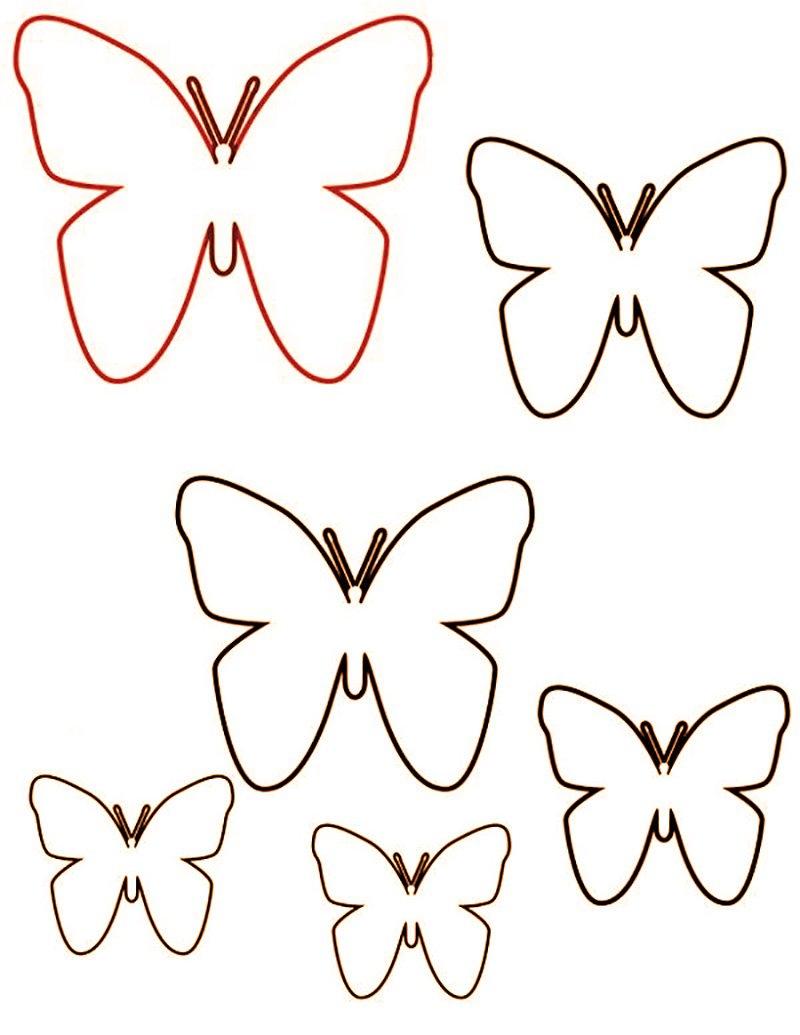 бабочки на стену из бумаги