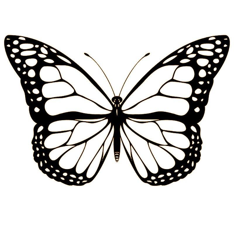 бабочки на стену из цветной бумаги