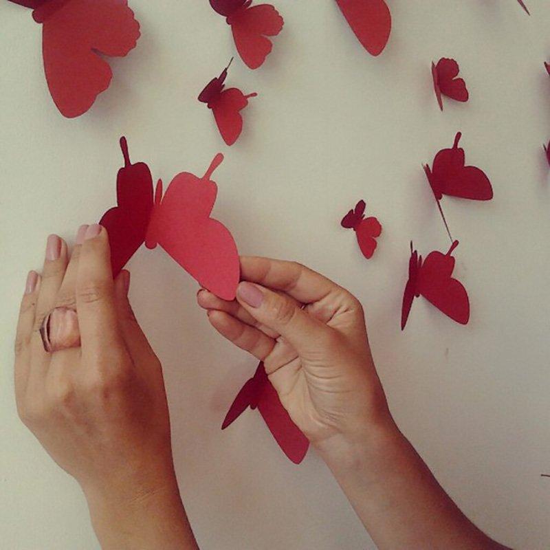 бабочки на стену из газет