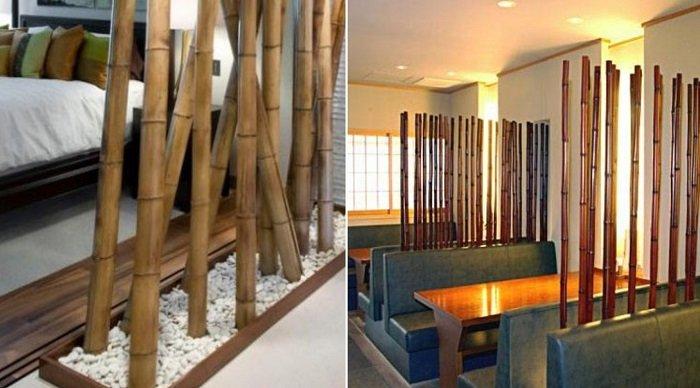 с чем сочетается бамбук в интерьере