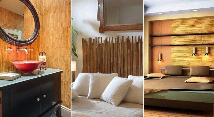 бамбук в вазе в интерьере
