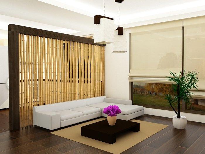 бамбук в интерьере дома