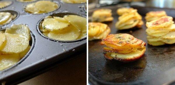 картофель в форме для кексов