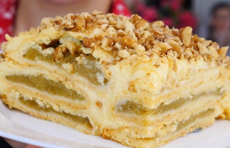 Баварский яблочный торт по рецепту Ольги Матвей, крема и масла много не бывает