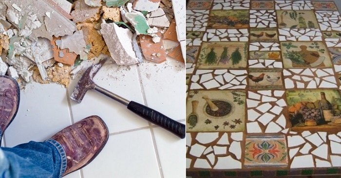 что можно сделать из остатков плитки