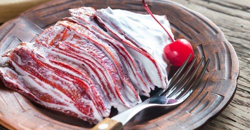 Инструкция по приготовлению блинного торта «Красный бархат» Кулинария,Блины,Выпечка,Кремы,Праздники,Сладости,Тесто,Торты