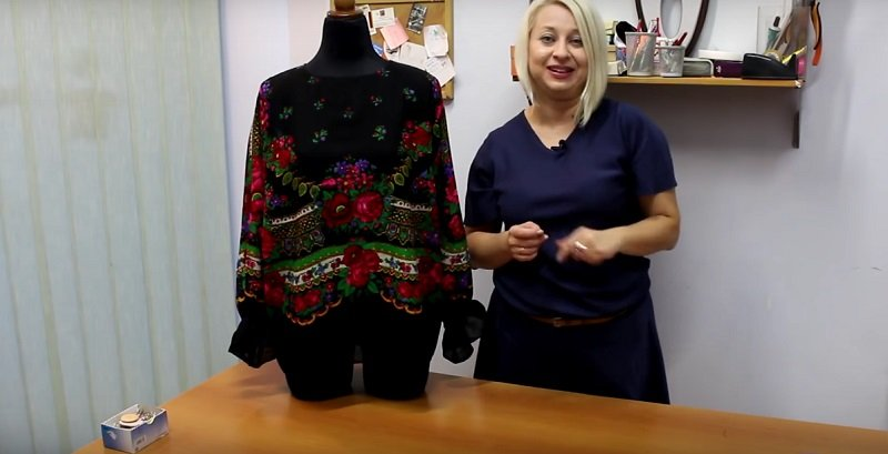 блузка из павлопосадского платка