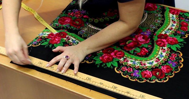 блузка из платка своими руками