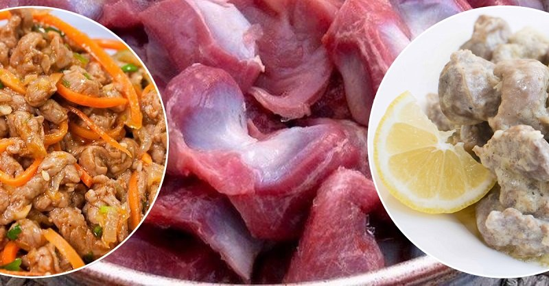 блюда из куриных желудков и сердца