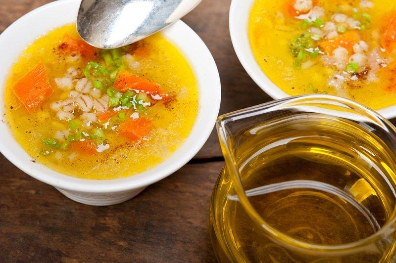 армянское блюдо из перловки и курицы
