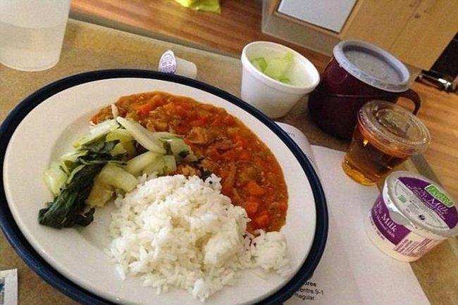 больничная еда в канаде