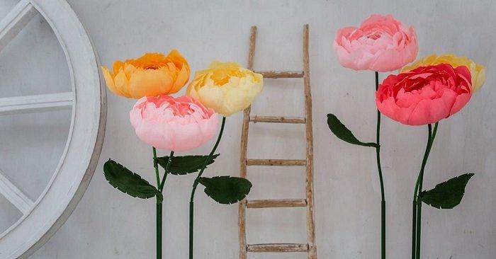 большие цветы из <em>как изменить свое отношение к окружающим</em> бумаги
