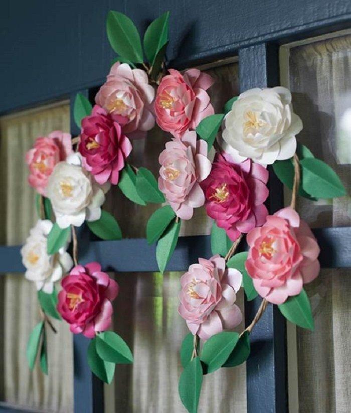 бумажные цветы большие