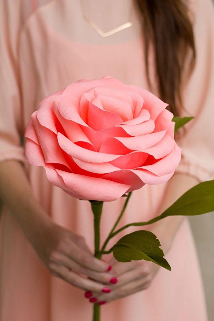 Из бумаги цветы с розы