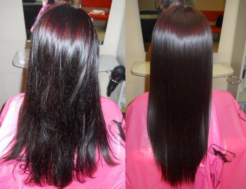Кератин для волос фото до и после