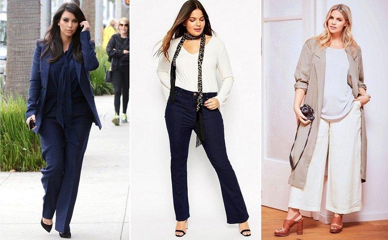 nohavice pre plné ženy fotografie