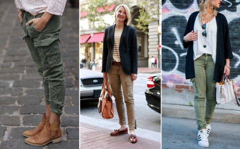 брюки в стиле карго