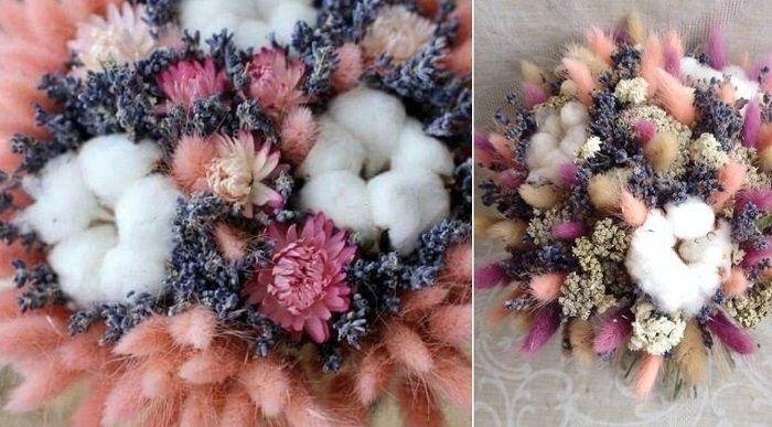 свадебные букеты из сухоцветов