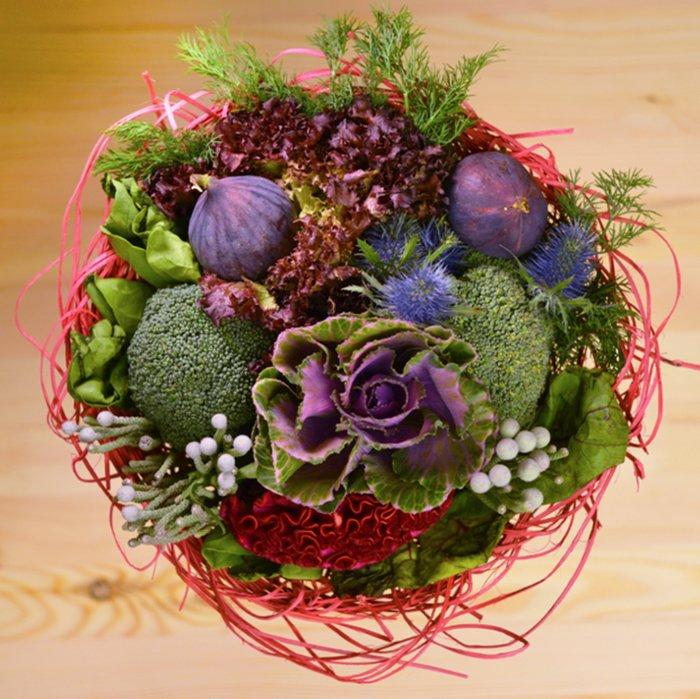 Как сделать букет из фруктов и овощей своими руками 5