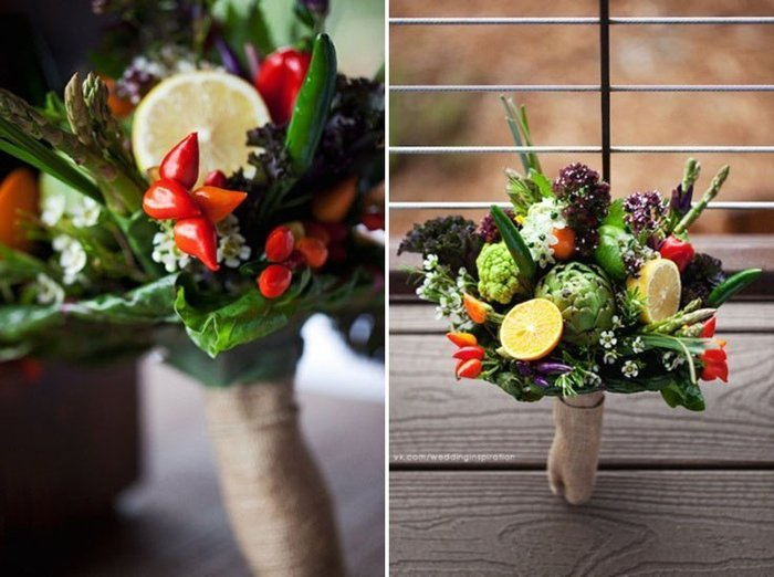 Осенние букеты своими руками из овощей 53