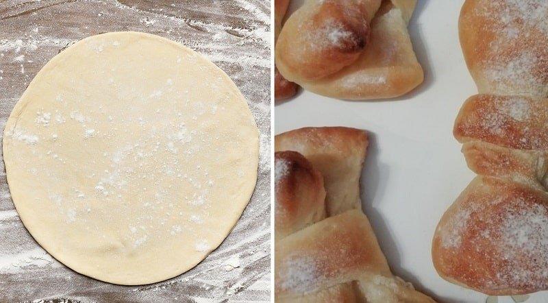 Как приготовить булочки-бантики из дрожжевого теста
