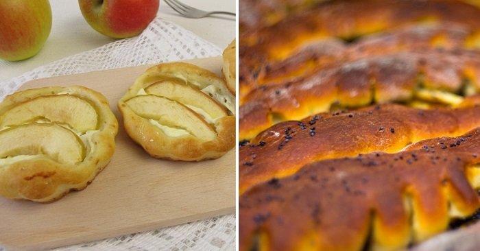 Инструкция по приготовлению творожных конвертиков с яблоками
