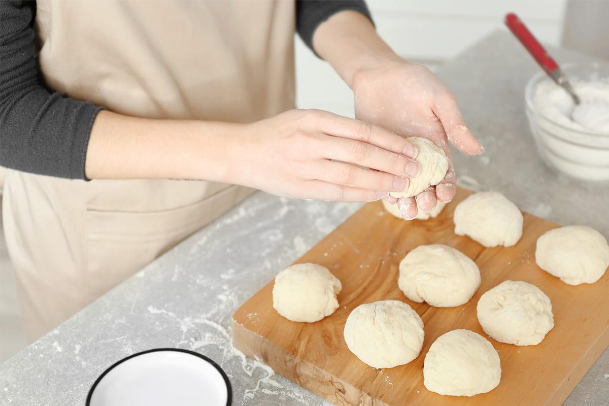 булочки с начинкой формы