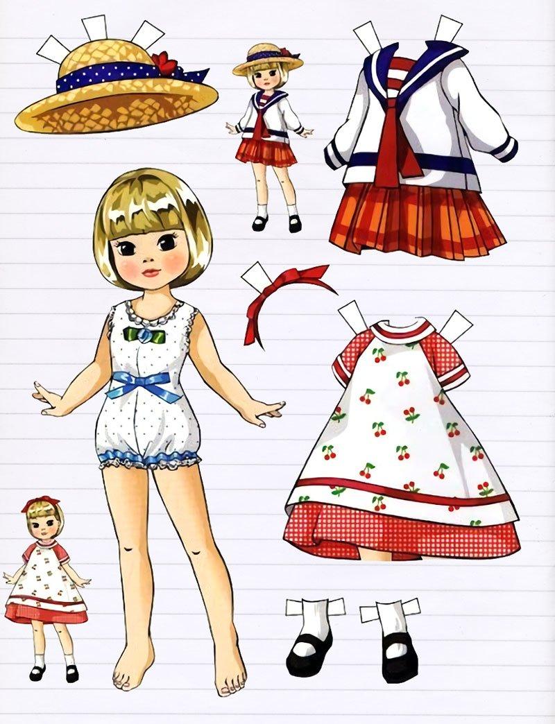 Схемы для вырезания бумажных кукол с детьми