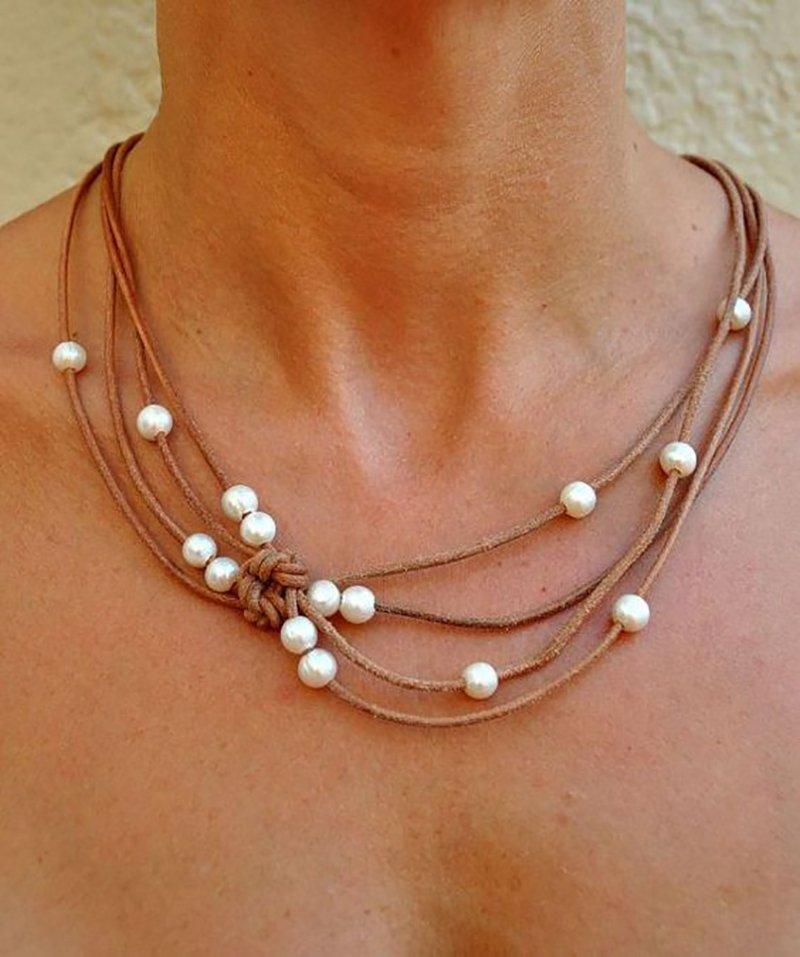 Ожерелье с бусинами своими руками фото 614