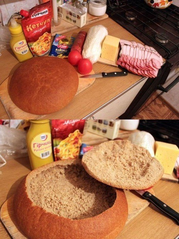 бутерброд из целого хлеба