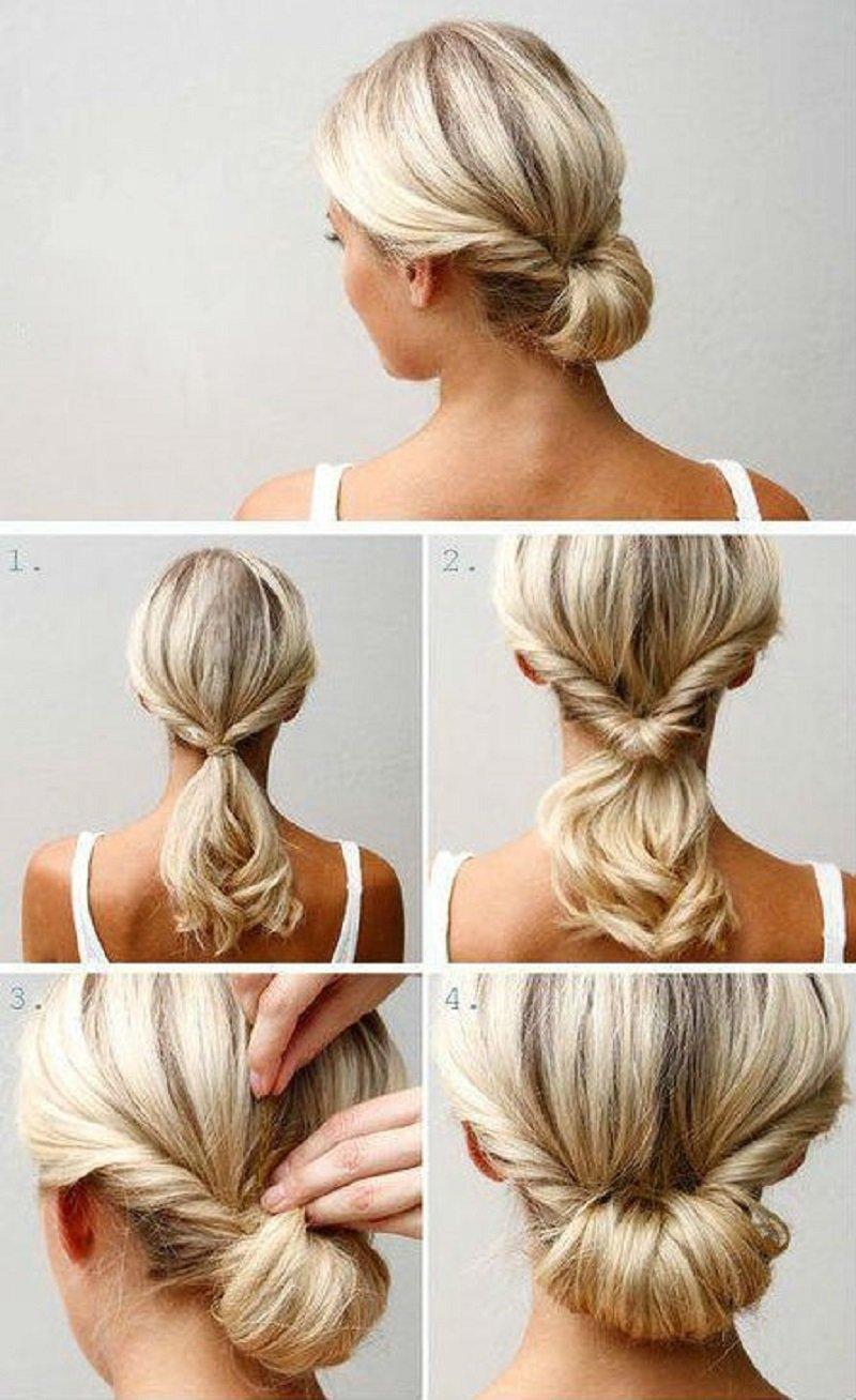 прически для коротких волос блондинки