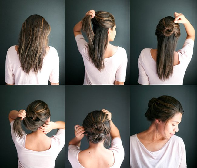Прическа за 5 минут  на средние волосы видео