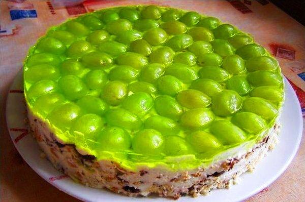 Желейний торт без випічки