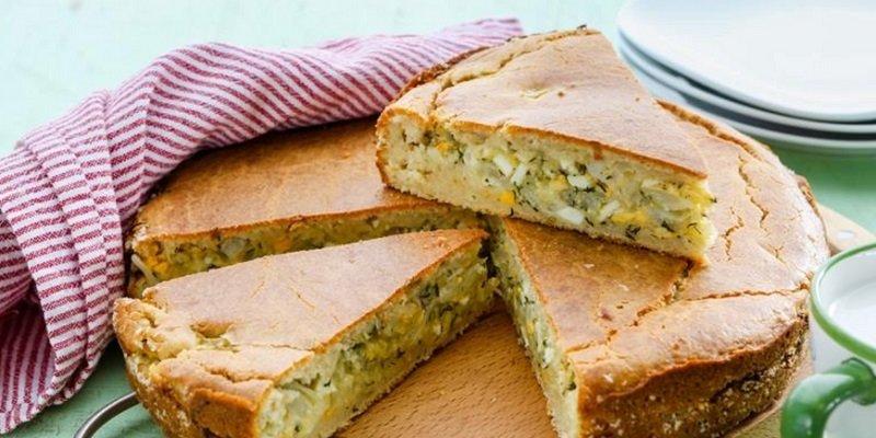 пирог с капустой и яйцом без дрожжей