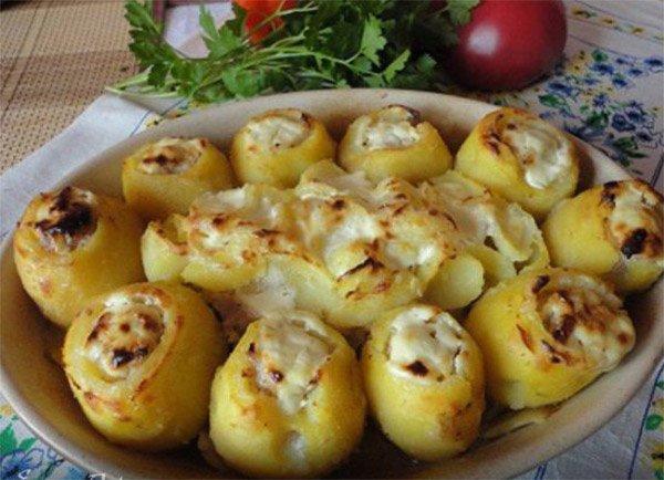 фаршированная картошка с мясом