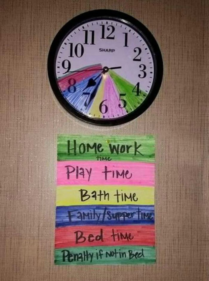 расписание для ребенка