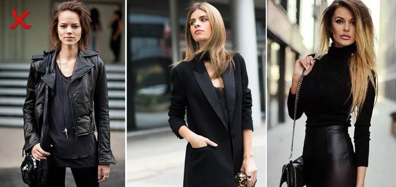 черный цвет в дизайне одежды