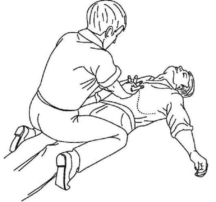 первая помощь при инородном теле в дыхательных путях