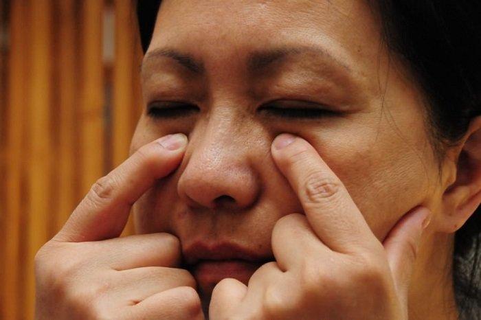 китайский точечный массаж при гайморите