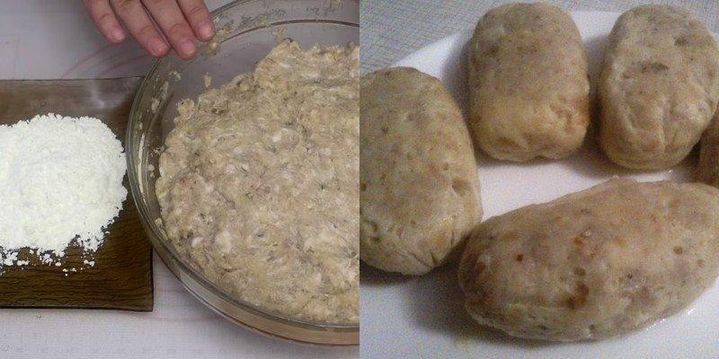 Рецепт рыбных колбасок с салом колбаски, перец, Добавь, тарелку, Рыбные, Разбей, Затем, сторон, смочи, фарша, рыбного, вилкойСформируй, взбей, глубокую, измельченный, укроп, однородным, чтобы, отбей, смешай