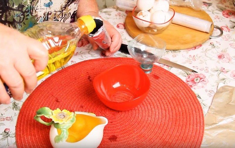 как сделать длинные прямые яйца