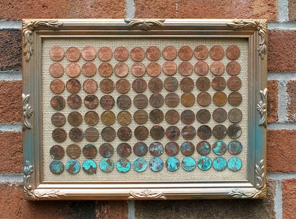 картина из монет