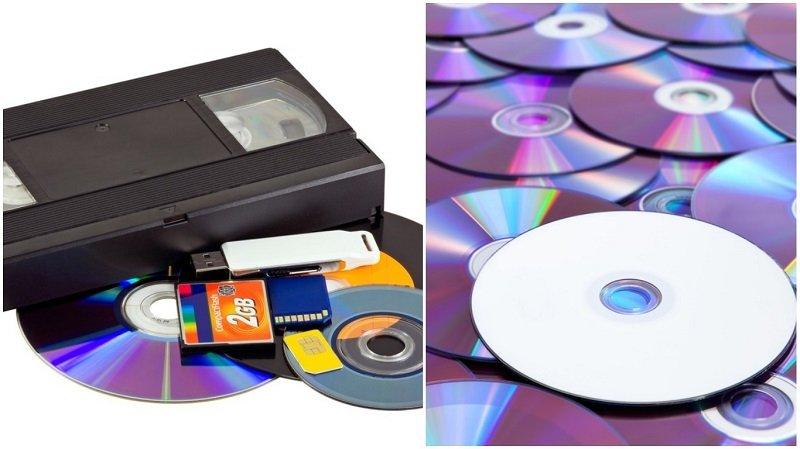 диски и видеокассеты