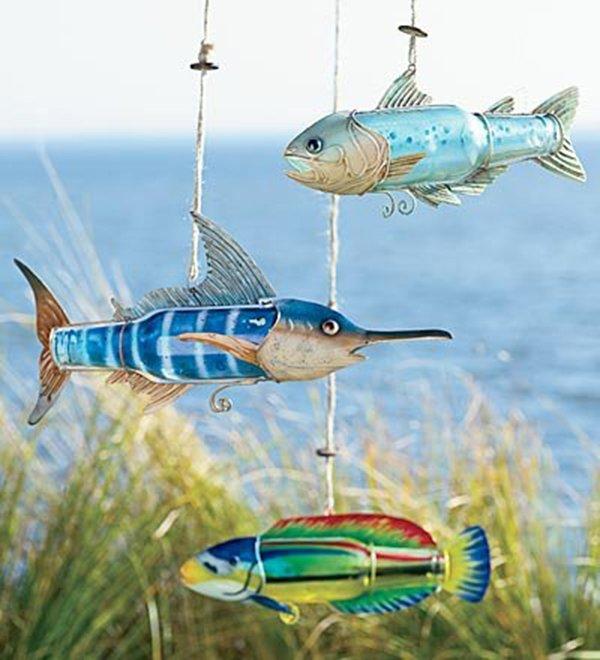 летучая рыба из пластиковой бутылки