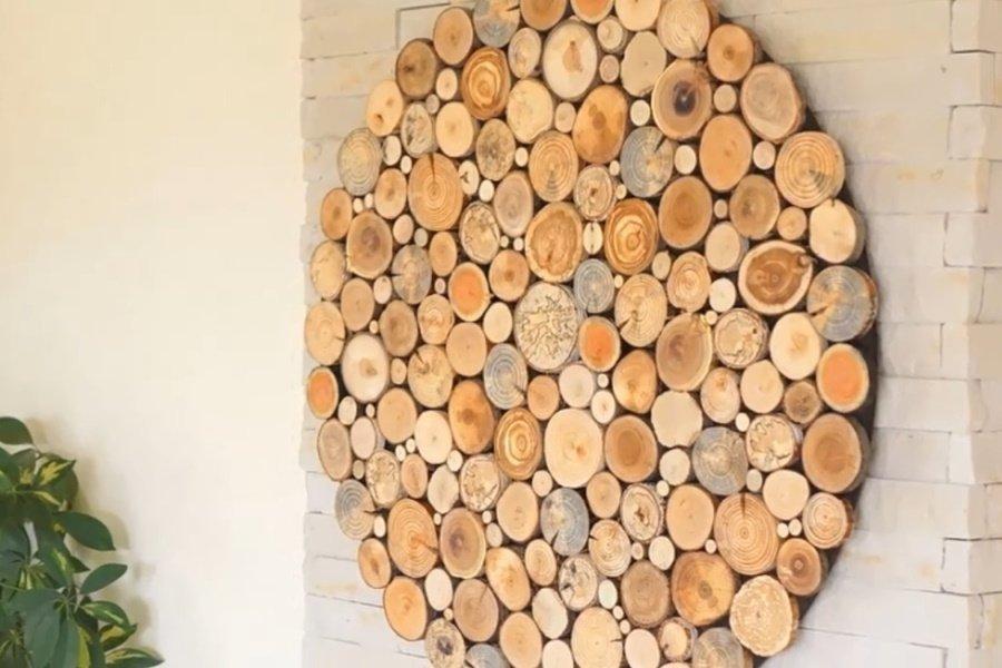 Деревянный пол из спилов дерева своими руками, который прославил супруга на всё село Вдохновение,Советы,Дерево,Дизайн,Дом,Интерьер,Лайфхаки,Уют