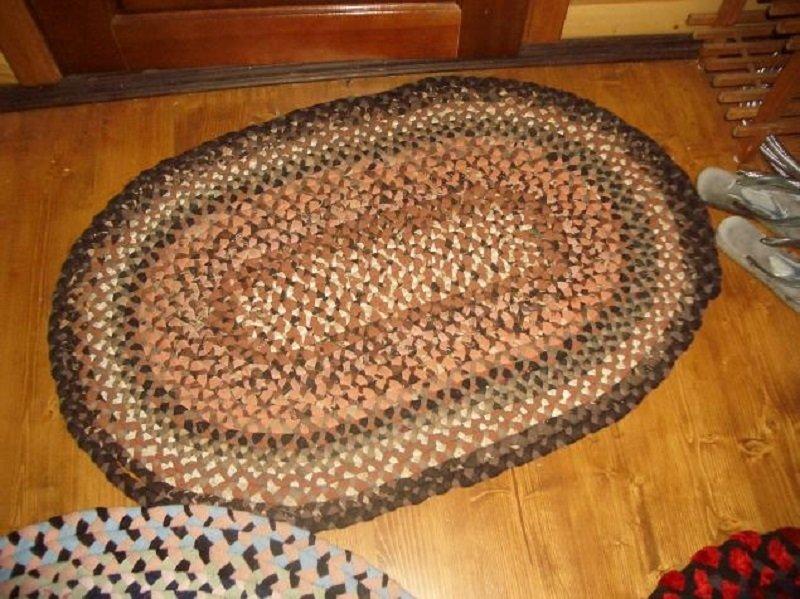 Вязание коврик из старых колготок