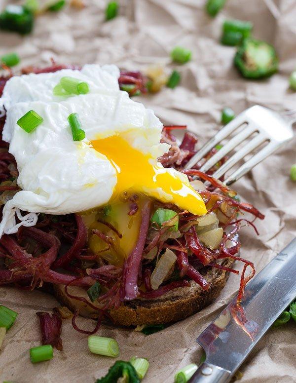 бутерброд с яйцом