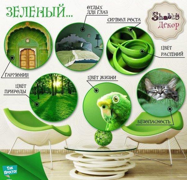 зеленый