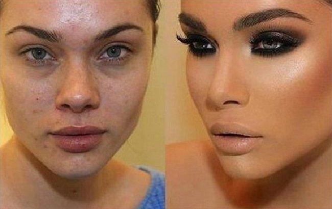 Как макияж обманывает мужчин