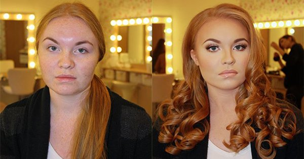 ДО и ПОСЛЕ макияжа. Мне сложно поверить, что это одна и та же девушка!